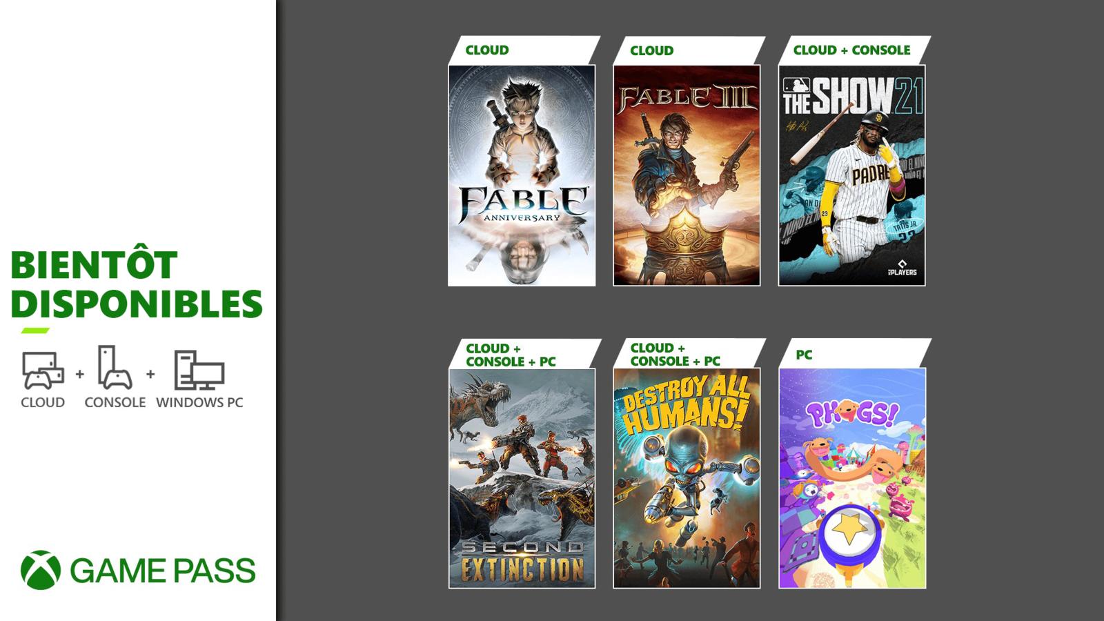 [ACTUALITE] Xbox Game Pass - Fable dans le cloud, MLB The Show 21 et d'autres surprises