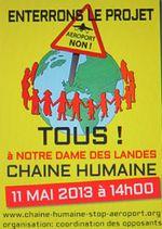 ND-des-Landes : RV à la Chaîne Humaine le Samedi 11 mai 2013