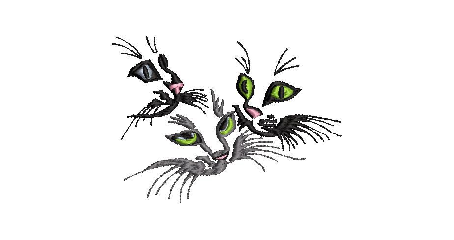 BRODERIE TROIS CHATS