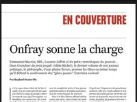 """Michel Onfray - Valeurs actuelles """"Onfray sonne la charge"""" - 9 au 15 janvier 2020"""