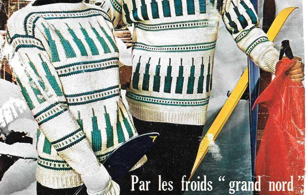 tricot : Pull et bonnet Norvégien homme et femme