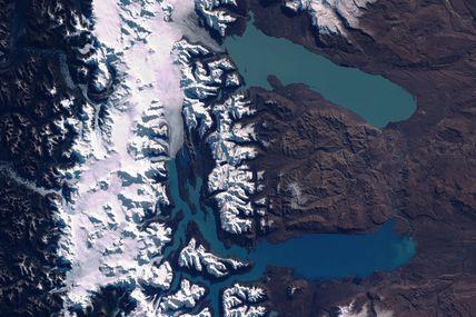 En Argentine, les lacs Viedma et Argentino vus par le satellite Sentinel-2B