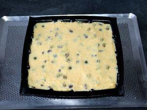 Carrés de polenta aux  2 raisins