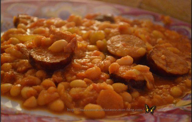 Délice de saucisses fumées et ses haricots blancs au Cooking Chef Gourmet