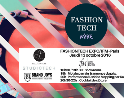 Brand joy -Fashion tech expo- Ifm -Paris