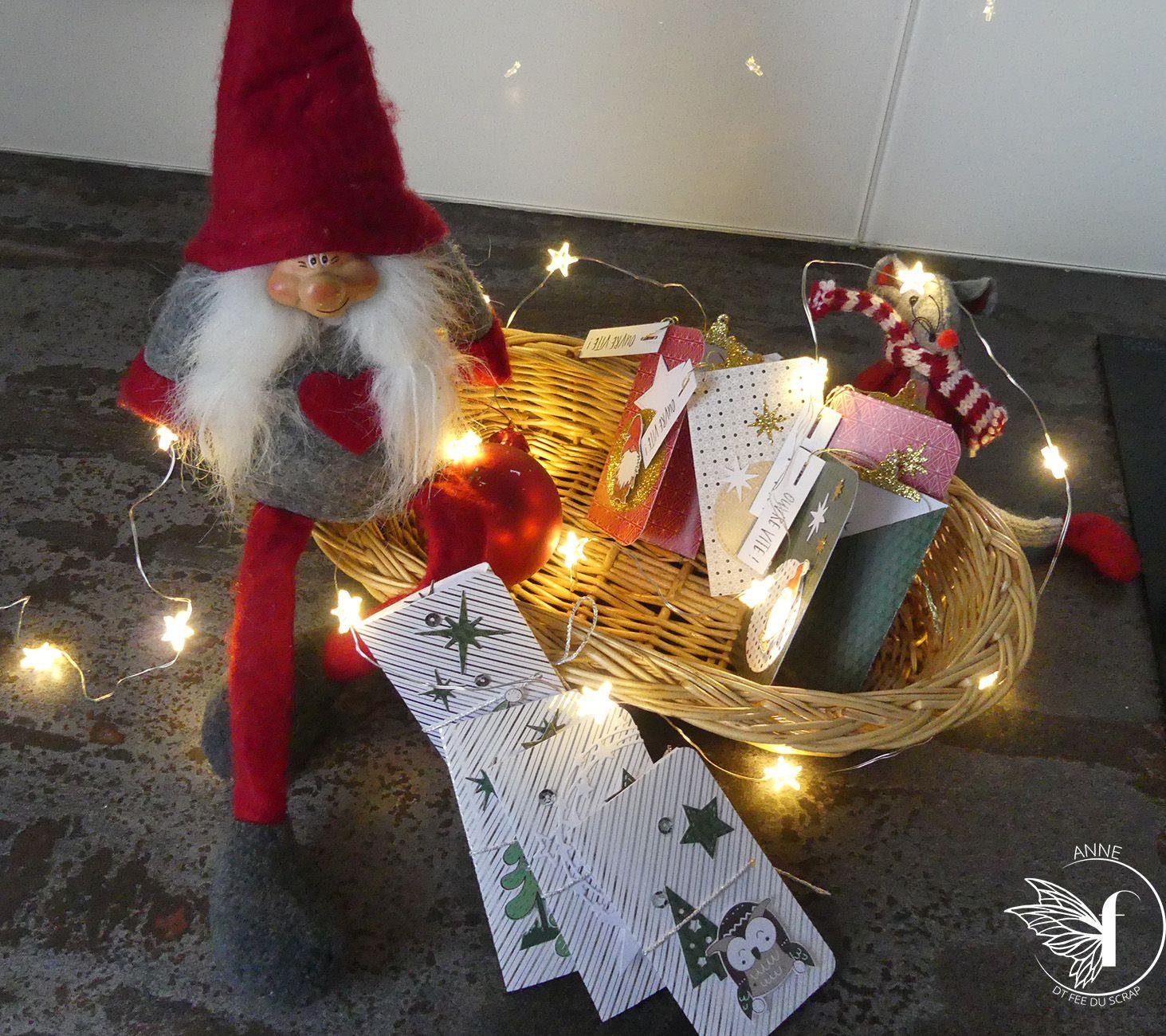 Anne : étiquettes cadeau de Noël ou marque- place
