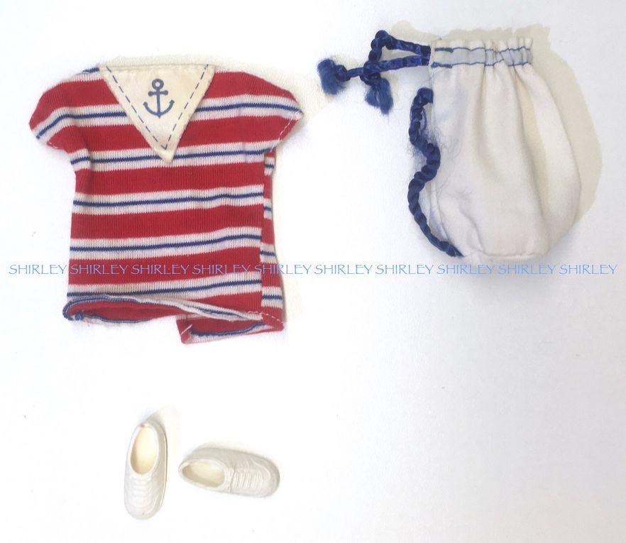 """SEA LOVIN"" BARBIE DOLL CLOTHES 1984 MATTEL #9109"