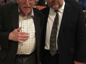 Avec le grand peintre Jacques Truphémus lors du concert du Requiem de Mozart à Lyon