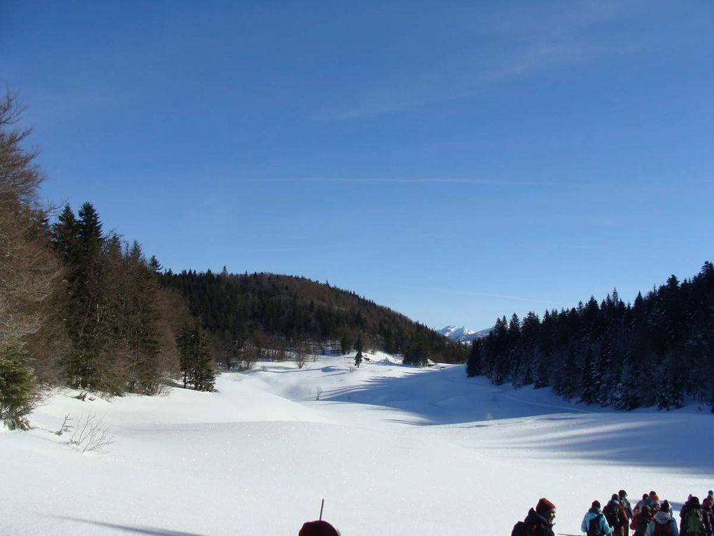 Raquettes neige à Font d'Urles : col de la Chaux -Les Gagères