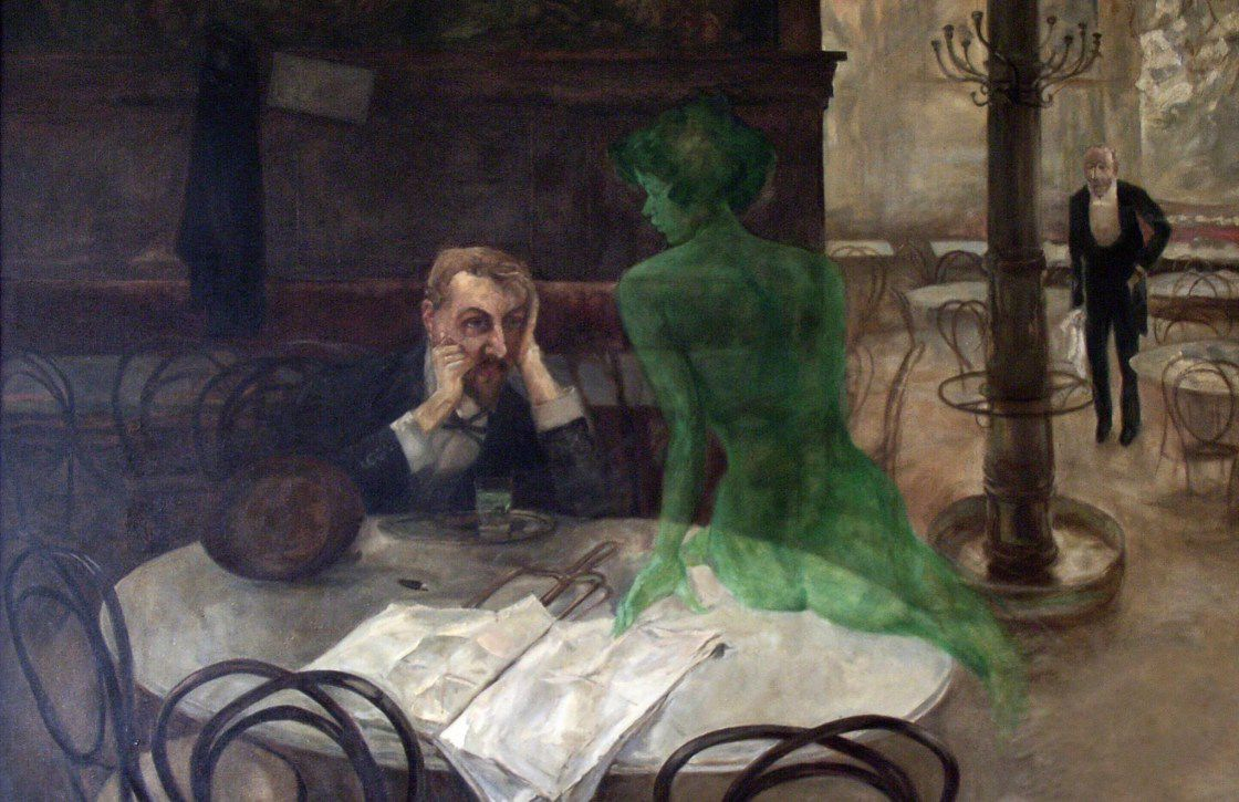 Le buveur d'absinthe - Victor Oliva - 1901