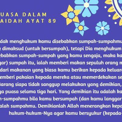 Surat Al_Maidah Ayat 89