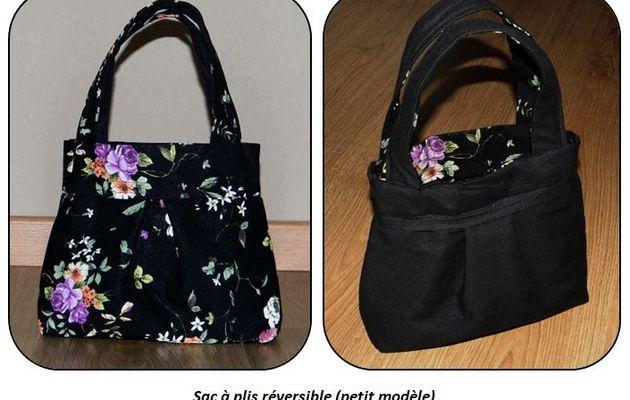 Tuto couture : petit sac à plis réversible
