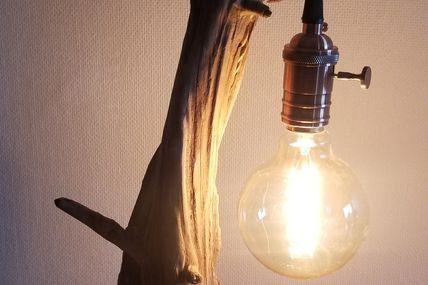 Lampe Twist bois flotté