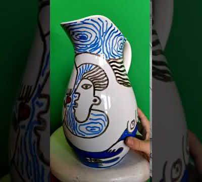 VASE HAND PAINTING SELL 50€