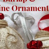 DIY Burlap & Twine Ornaments