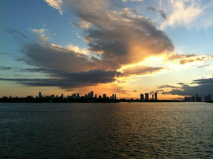 Sunset on Downtown Miami. Dj Cam. DR