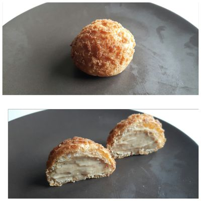 Little choux with praline hazelnut cream