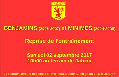 Reprise Benjamins et Minimes