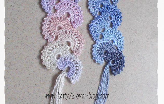 Crochet : Marque page Eventail