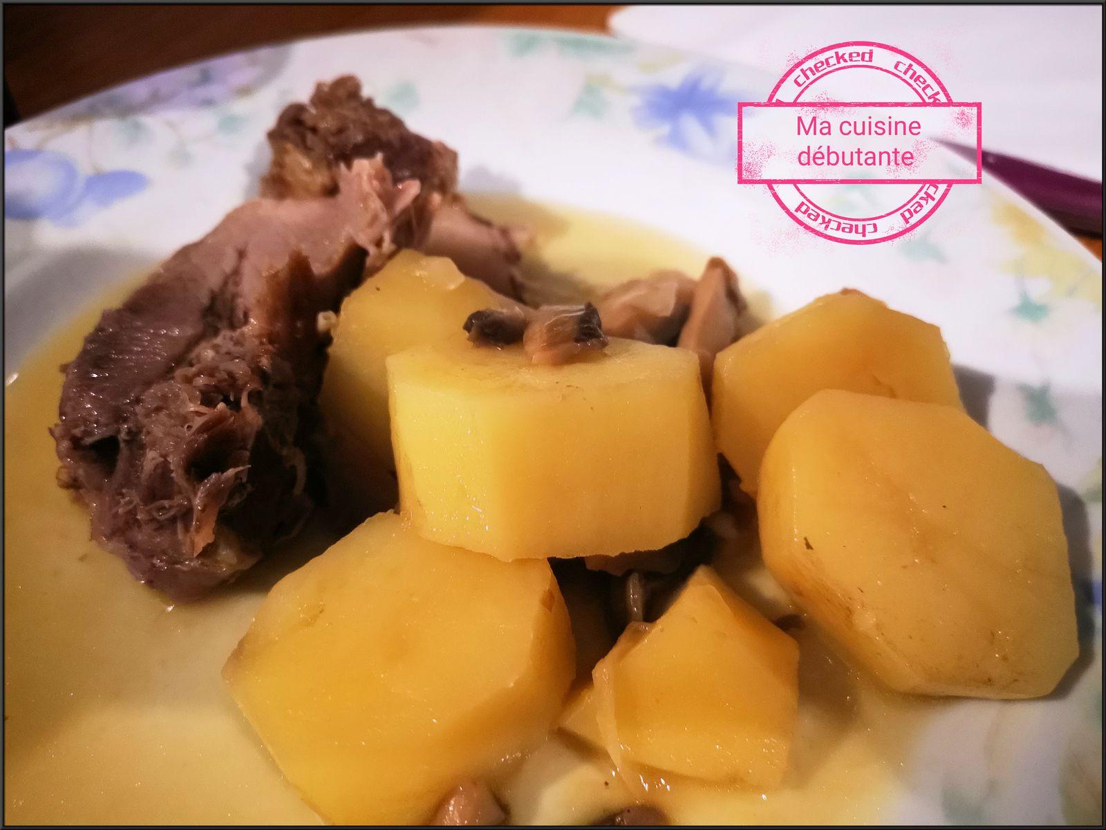 Rôti de porc aux pommes de terres champignons avec cookeo touch