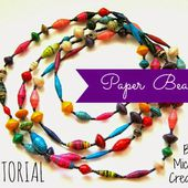 Wally and Jules: Paper Bead Tutorial