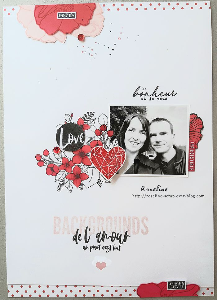 Page Rouge & Love en Florilèges design