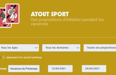Du 12 au 24 avril : le programme modifié de Atout Sport (communiqué)