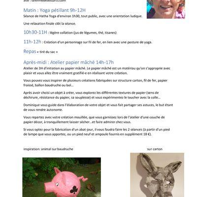 Atelier créatif à la Ferme des Essarts 23/24 février