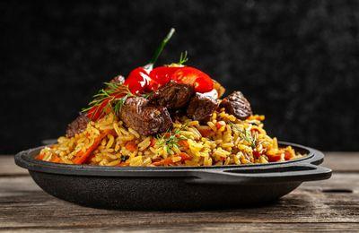 Bon appétit - Nourriture - Riz - Pilaf - Viande - Légumes - Photographie - Wallpaper - Free