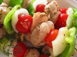 Brochettes de légumes et de noix de St-Jacques à l'anis