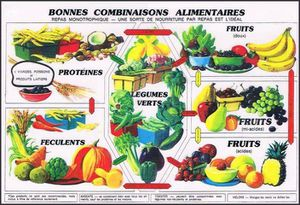 LES CLASSIFICATIONS D'ALIMENTS ET LES COMBINAISONS ALIMENTAIRES