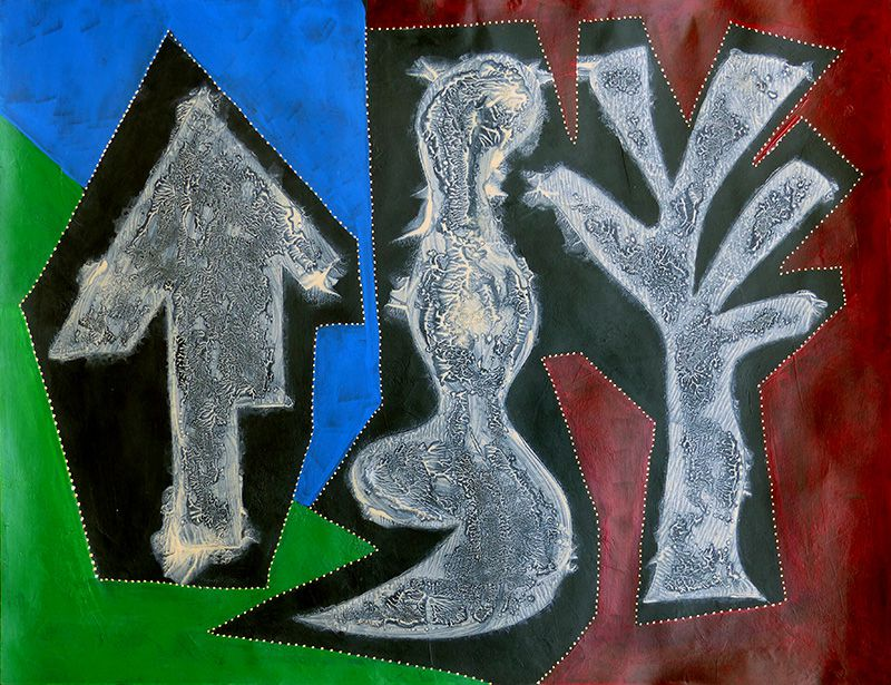 Pochoir, lavis, aplat - Peinture de Lucie Maret
