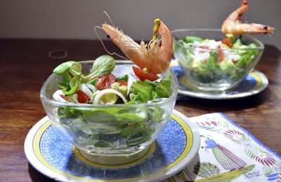 Petite salade à la sauce allégée