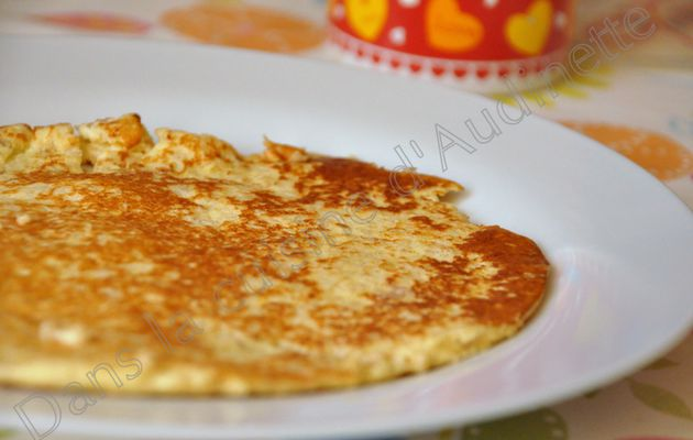 Pancake (galette) Dukan et pâte à tartiner au chocolat