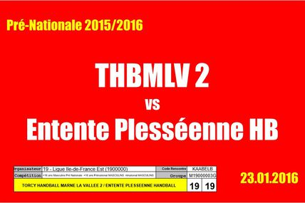 THBMLV 2 vs EPHB (Pré-Nationale) 23.01.2016