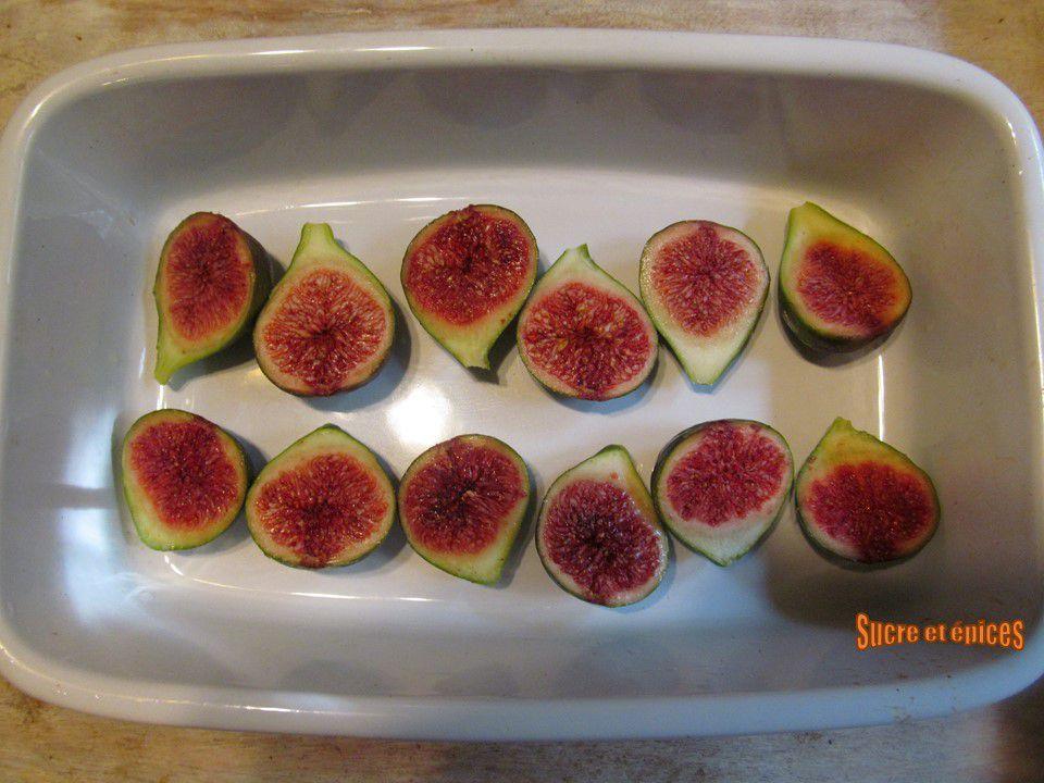 Salade aux figues rôties au vinaigre balsamique