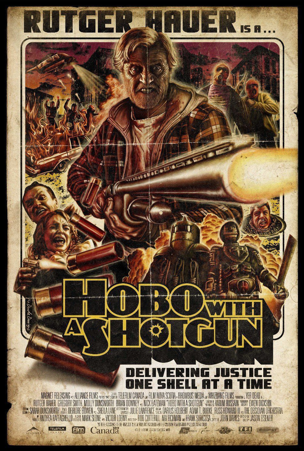 Hobo With A Shotgun (2011) avec Rutger Hauer, Molly Dunsworth, Brian Downey, Gregory Smith