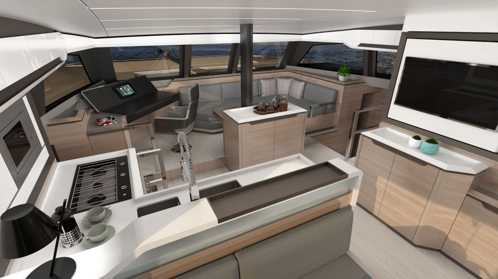 Catana Ocean Class - Blauwasser Katamaran mit hoher Leistung... im offenen Modus !