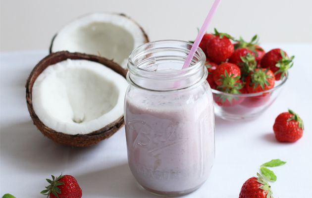 Smoothie fraise-coco