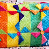 Pinwheel Quilt Block Pillowcase tutorial