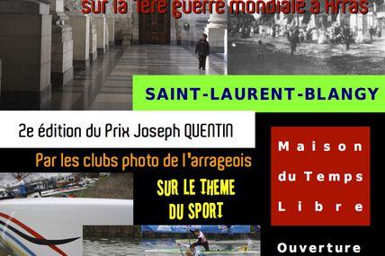 Exposition du Trophée Joseph Quentin à Saint-Laurent-Blangy le 25 novembre 2012