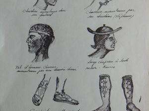Ce sont des études de visages, de drapés et de coiffes. Enfin un hommage au père d'Auguste... Cesar Magnani...