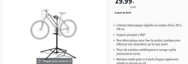 """Sélection articles """"Vélo"""" chez Lidl - 16 Septembre 2021"""