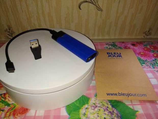unboxing du disque dur SSD externe nomade à interface USB type C - BleuJour eSSD @ Tests et Bons Plans