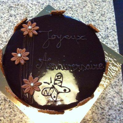 Royal chocolat et Fraisier