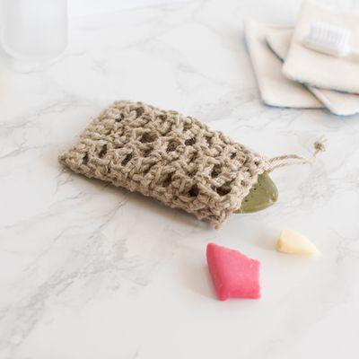 Sachet au crochet pour restes de savon