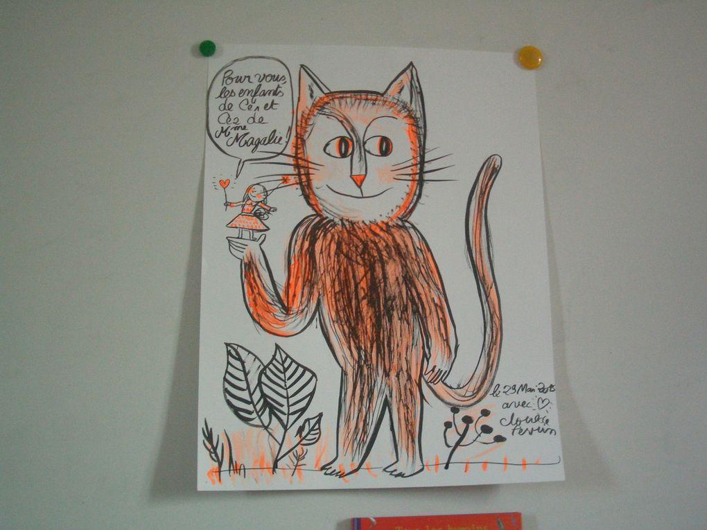 Visite d'une illustratrice à l'école