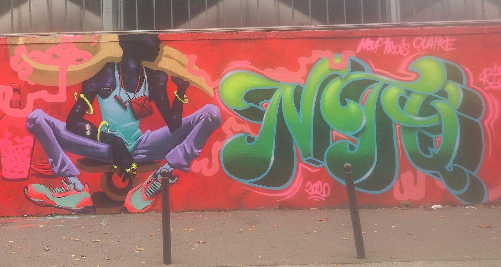 Street art rue d'Aubervilliers (Paris)