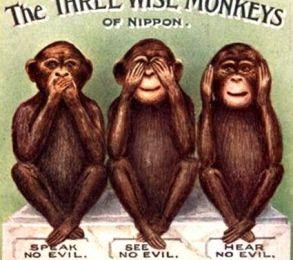 La signification secrète des ''trois singes sages'' – cachée par l'Élite