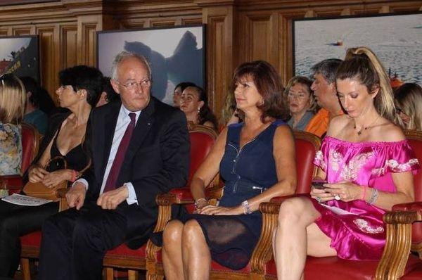 SE Ministre d'Etat Michel Roger, Mireille Pietri and Marjorie Crovetto-Harroch - (c) Lafuente de Lavotha